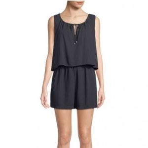 NWT SPLENDID Sleeveless Crosshatch Romper